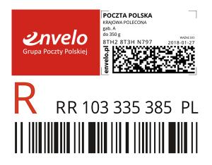 Polecony znaczek pocztowy