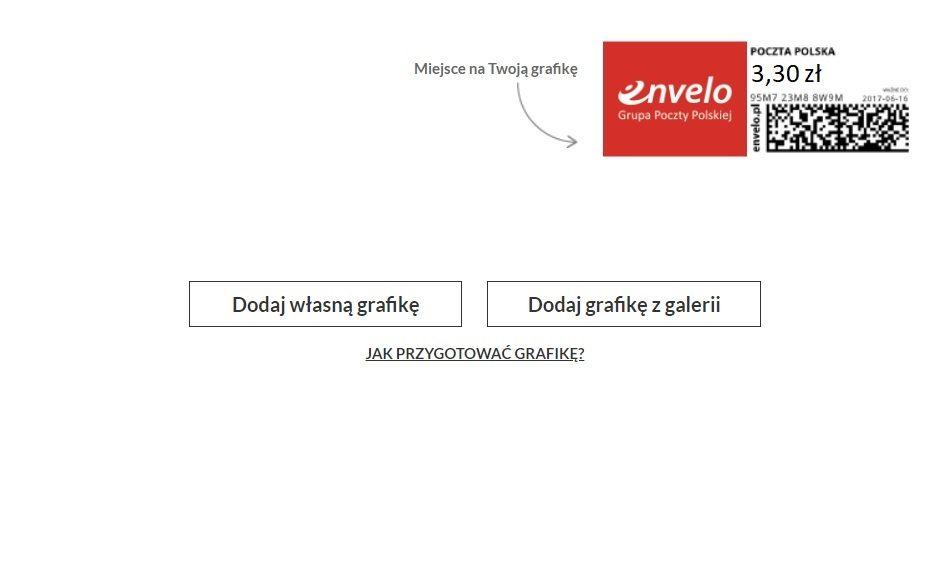 Dodanie grafiki na znaczek pocztowy